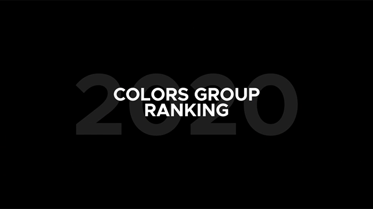 【COLORS GROUP】2020年1月〜10月末 年間TOP20